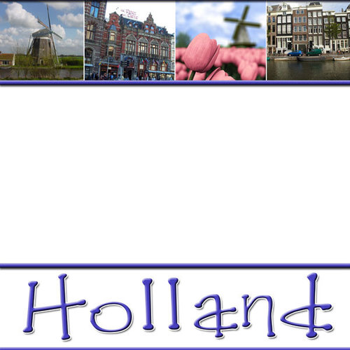 Scrapbook Customs - World Collection - Holland - 12 x 12 Paper