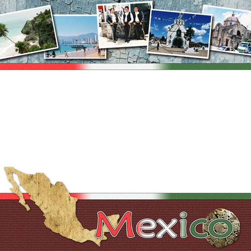 Scrapbook Customs - World Collection - Mexico - 12 x 12 Paper