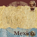Scrapbook Customs - World Collection - Mexico - 12 x 12 Paper - Aztec