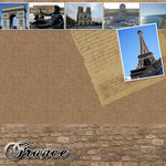 Scrapbook Customs - World Collection - France - 12 x 12 Paper