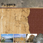 Scrapbook Customs - World Collection - Italy - 12 x 12 Paper - Florence