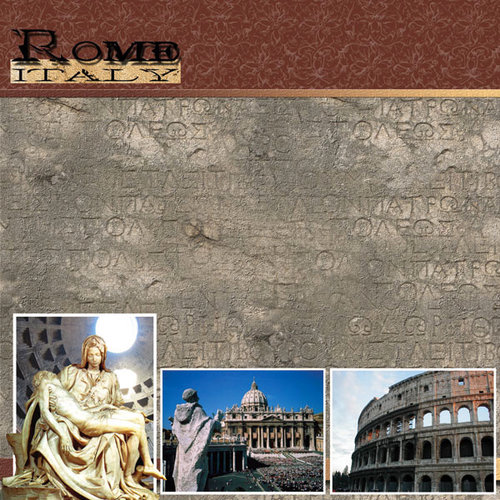 Scrapbook Customs - World Collection - Italy - 12 x 12 Paper - Rome