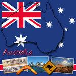 Scrapbook Customs - World Collection - Australia - 12 x 12 Paper