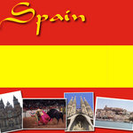 Scrapbook Customs - World Collection - Spain - 12 x 12 Paper