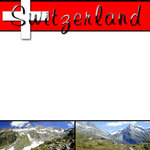 Scrapbook Customs - World Collection - Switzerland - 12 x 12 Paper
