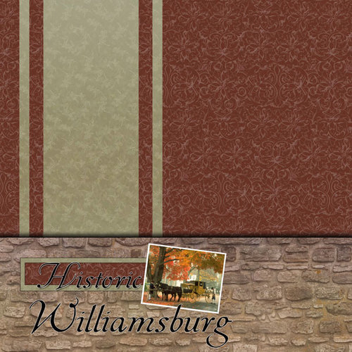 Scrapbook Customs - United States Collection - Virginia - 12 x 12 Paper - Historic Williamsburg