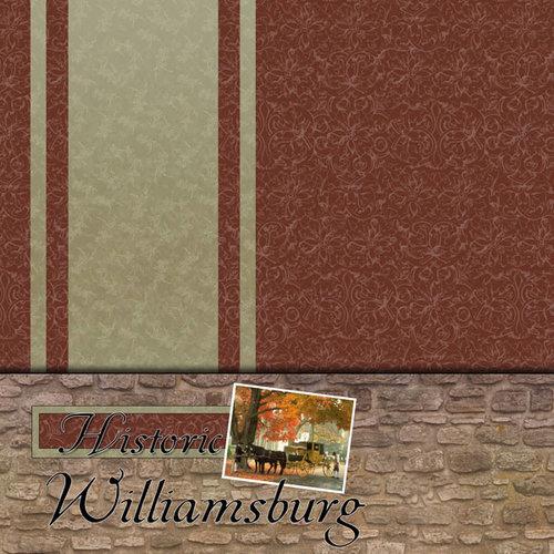Scrapbook Customs - United States Collection - Virginia - 12 x 12 Paper - Historic Williamsburg