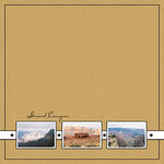 Scrapbook Customs - United States Collection - Arizona - 12 x 12 Paper - Grand Canyon - Stamps