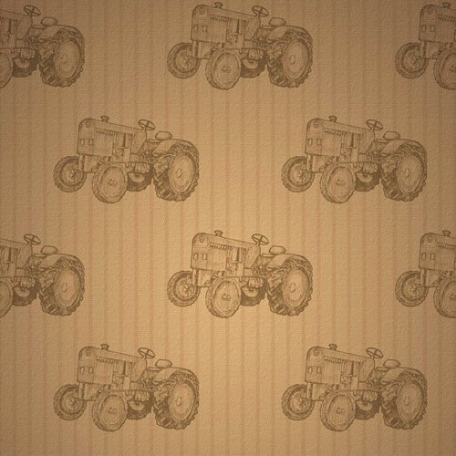 Scrapbook Customs - United States Collection - 12 x 12 Paper - Tractor