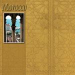 Scrapbook Customs - World Collection - Morocco - 12 x 12 Paper