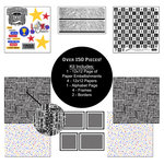 Scrapbook Customs - Sports Collection - 12 x 12 Paper Kit - Cheerleading
