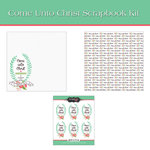 Scrapbook Customs - 12 x 12 Page Kit - Come Unto Christ