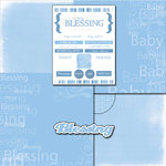Scrapbook Customs - LDS Collection - 12 x 12 Scrapbook Kit - Baby Boy Blessing Too