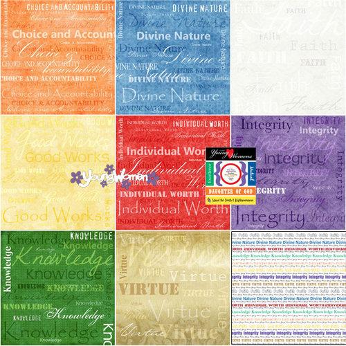 Scrapbook Customs - LDS Collection - 12 x 12 Scrapbook Kit - Young Women Too