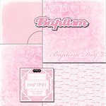 Scrapbook Customs - LDS Collection - 12 x 12 Scrapbook Kit - Baptism Girl Too