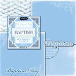 Scrapbook Customs - LDS Collection - 12 x 12 Scrapbook Kit - Baptism Boy Too