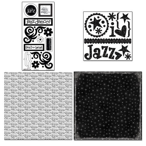 Scrapbook Customs - Sports Collection - 12 x 12 Page Kit - Jazz