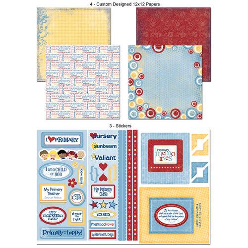 Scrapbook Customs - LDS Collection - 12 x 12 Scrapbook Kit - Primary