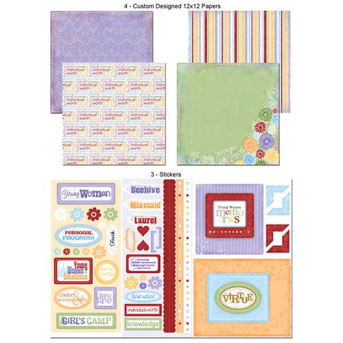 Scrapbook Customs - LDS Collection - 12 x 12 Scrapbook Kit - Young Women