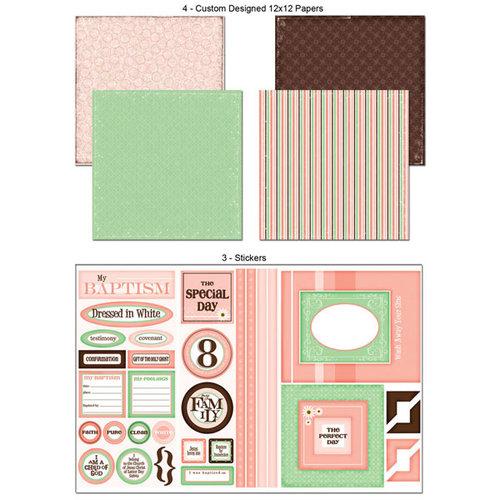 Scrapbook Customs - LDS Collection - 12 x 12 Scrapbook Kit - Baptism - Girl