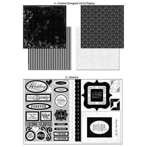 Scrapbook Customs - LDS Collection - 12 x 12 Scrapbook Kit - Wedding Memories