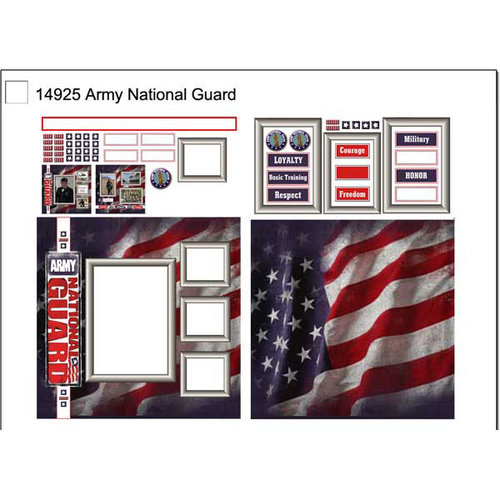 Scrapbook Customs - Military Collection - 12 x 12 Page Kit - Army National Guard