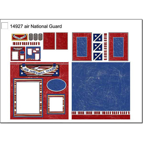 Scrapbook Customs - Military Collection - 12 x 12 Page Kit - Air National Guard