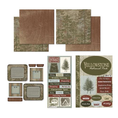 Scrapbook Customs - National Parks Scrapbook Kit - Yellowstone