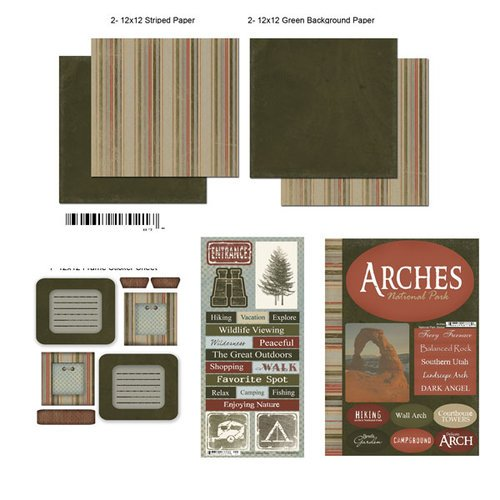 Scrapbook Customs - National Parks Scrapbook Kit - Arches