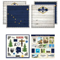 Scrapbook Customs - State Sightseeing Kit - Alaska