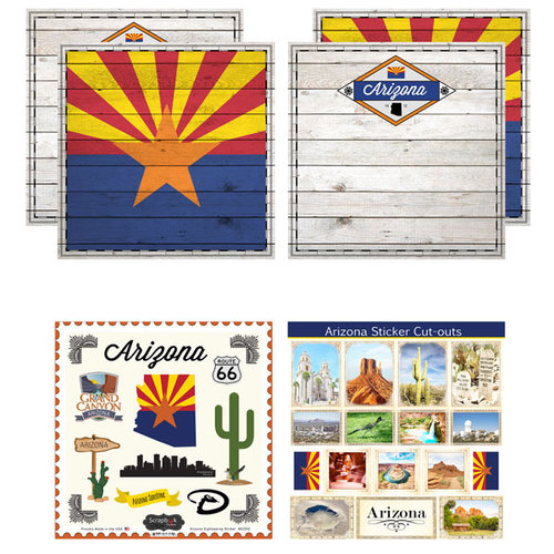 Scrapbook Customs - State Sightseeing Kit - Arizona