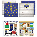 Scrapbook Customs - State Sightseeing Kit - Indiana