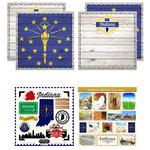 Scrapbook Customs - State Sightseeing Kit - Indiana