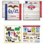 Scrapbook Customs - State Sightseeing Kit - Iowa