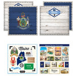 Scrapbook Customs - State Sightseeing Kit - Maine