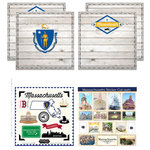 Scrapbook Customs - State Sightseeing Kit - Massachusetts