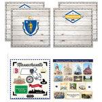Scrapbook Customs - State Sightseeing Kit - Massachusetts