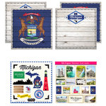 Scrapbook Customs - State Sightseeing Kit - Michigan
