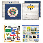 Scrapbook Customs - State Sightseeing Kit - Minnesota