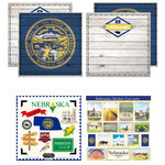 Scrapbook Customs - State Sightseeing Kit - Nebraska