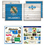 Scrapbook Customs - State Sightseeing Kit - Oklahoma