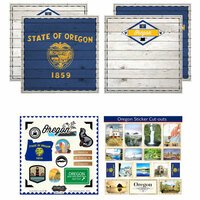 Scrapbook Customs - State Sightseeing Kit - Oregon