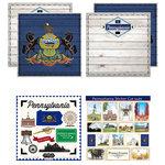 Scrapbook Customs - State Sightseeing Kit - Pennsylvania
