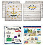 Scrapbook Customs - State Sightseeing Kit - Rhode Island