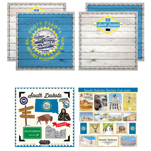 Scrapbook Customs - State Sightseeing Kit - South Dakota