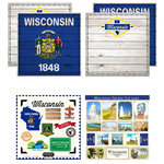 Scrapbook Customs - State Sightseeing Kit - Wisconsin