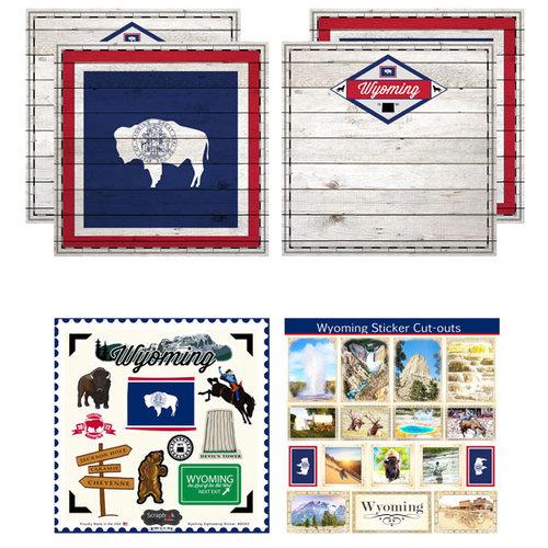 Scrapbook Customs - State Sightseeing Kit - Wyoming