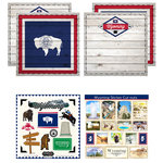 Scrapbook Customs - State Sightseeing Kit - Wyoming