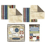 Scrapbook Customs - Lovely Scrapbook Kit - California