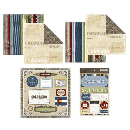 Scrapbook Customs - Lovely Scrapbook Kit - Colorado